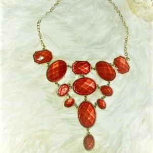 Quartz Reddish Pink Necklace